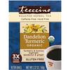 Teeccino, Té de hierbas asadas orgánicas, cúrcuma de diente de león, sin cafeína, 10 bolsitas de té, 2.12 oz (60 g)