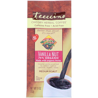 Teeccino, Chicory Herbal Coffee, Medium Roast, Caffeine Free, Vanilla Nut, 11 oz (312 g)