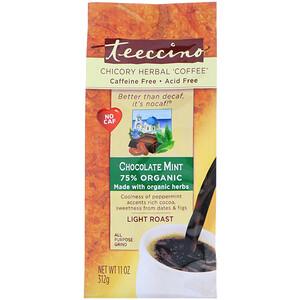 Теессино, Chicory Herbal Coffee, Light Roast, Caffeine Free, Chocolate Mint, 11 oz (312 g) отзывы