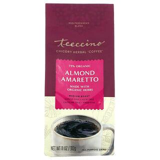 Teeccino, Chicory Herbal Coffee, Almond Amaretto, Medium Roast, Caffeine Free, 11 oz (312 g)