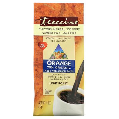 Teeccino Травяной «кофе» с цикорием и апельсином, легкой обжарки, без кофеина, 11 унц. (312 г)