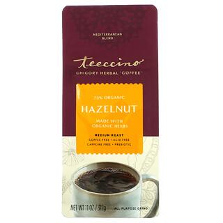 Teeccino, Chicory Herbal Coffee, Hazelnut, Medium Roast, Caffeine Free, 11 oz (312 g)