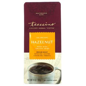 Теессино, Chicory Herbal Coffee, Hazelnut, Medium Roast, Caffeine Free, 11 oz (312 g) отзывы