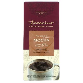 Teeccino, Chicory Herbal Coffee, Mocha, Medium Roast, Caffeine Free, 11 oz (312 g)