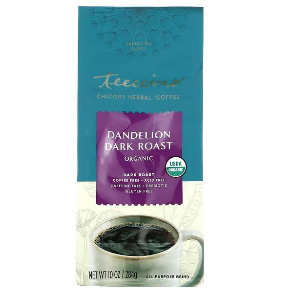 Chicory Herbal Coffee, Dandelion Blend, Dark Roast, Caffeine Free, 10 oz (284 g)
