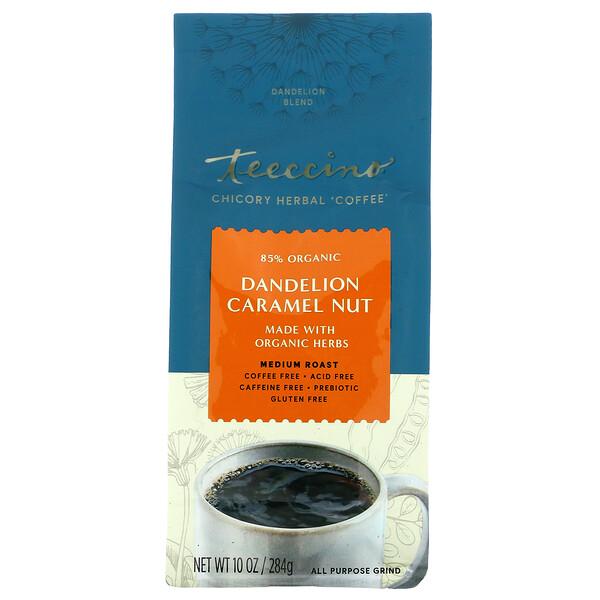 菊苣草本咖啡,中度烘焙,蒲公英焦糖堅果味,無咖啡萃取,10 盎司(284 克)