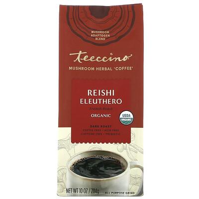 Купить Teeccino Mushroom Herbal Coffee, Reishi Eleuthero, Dark Roast, Caffeine Free, 10 oz (284 g)