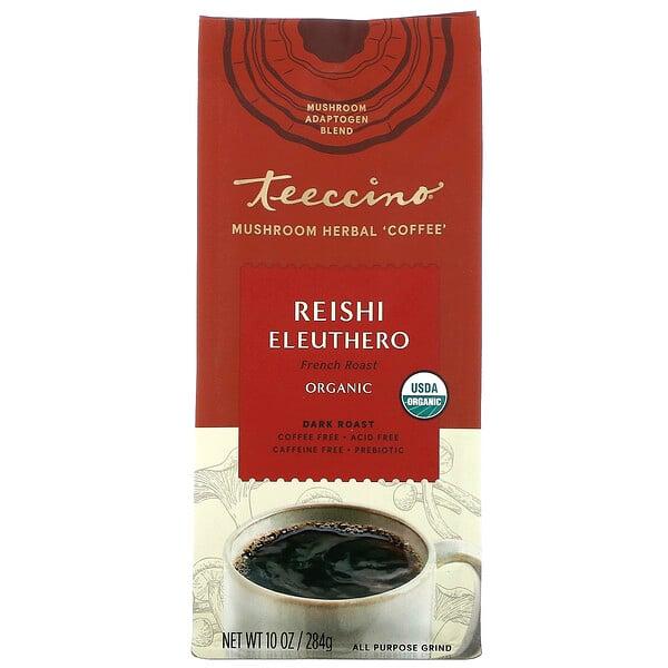 Mushroom Herbal Coffee, Reishi Eleuthero, Dark Roast, Caffeine Free, 10 oz (284 g)