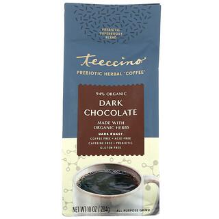 Teeccino, Prebiotic Herbal Coffee, Dark Chocolate, Dark Roast, Caffeine Free, 10 oz (284 g)