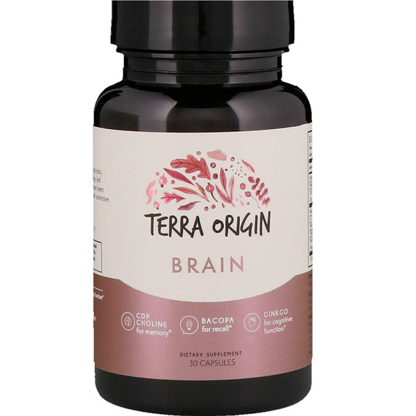 Terra Origin, Brain, 30 Capsules (Discontinued Item)