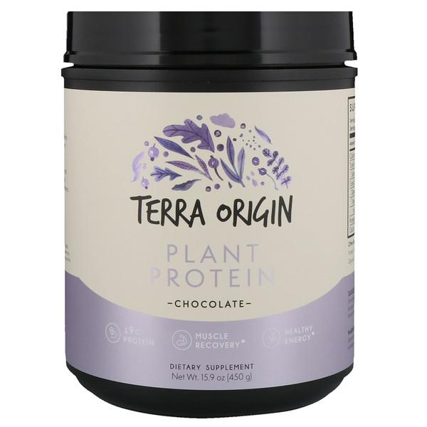 Terra Origin, Plant Protein Powder, Chocolate, 15.9 oz (450 g) (Discontinued Item)