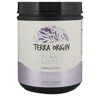 Terra Origin, Plant Protein, Vanilla Chai, 15.1 oz (427.1 g)