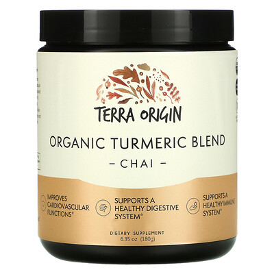 Купить Terra Origin Organic Turmeric Blend, Chai, 6.35 oz (180 g)