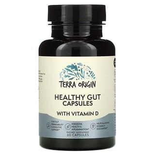 Terra Origin, капсулы для здоровья кишечника с витамином D, 60 капсул