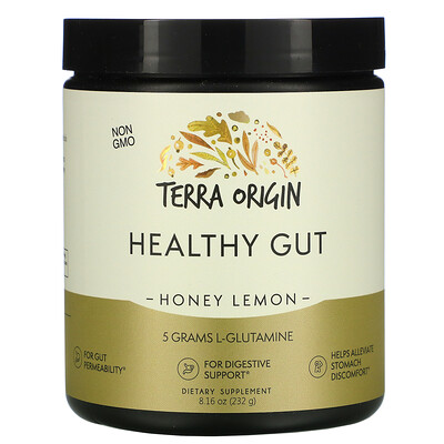 Terra Origin Healthy Gut, Honey Lemon, 8.16 oz (232 g)