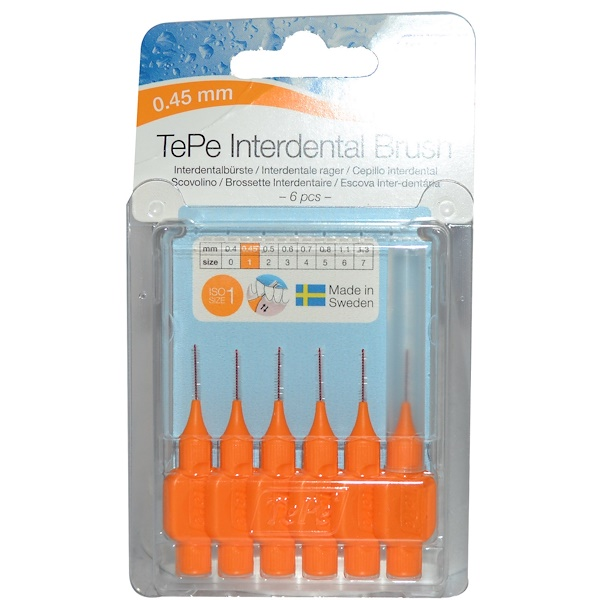 TePe Oral Health Care, Interdental Brush, 0.45 mm, 6 Pieces  (Discontinued Item)