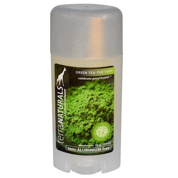 Terra Naturals, 100% Natural Deodorant, Green Tea, 2.6 oz (75 g) (Discontinued Item)