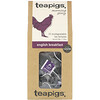 TeaPigs, Morning Glory, English Breakfast, 15 Tea Temples, 1.76 oz (50 g)