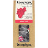 TeaPigs, Bursting with Super Berries, Super Fruit, Caffeine Free, 15 Tea Temples, 1.3 oz (37.5 g)