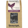 TeaPigs, Morning Glory, English Breakfast, 50 Tea Temples, 5.82 oz