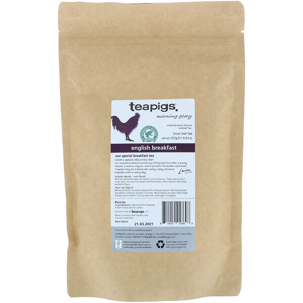 TeaPigs, Morning Glory, English Breakfast, Loose Leaf Tea, 8.81 oz (250 g) (Discontinued Item)