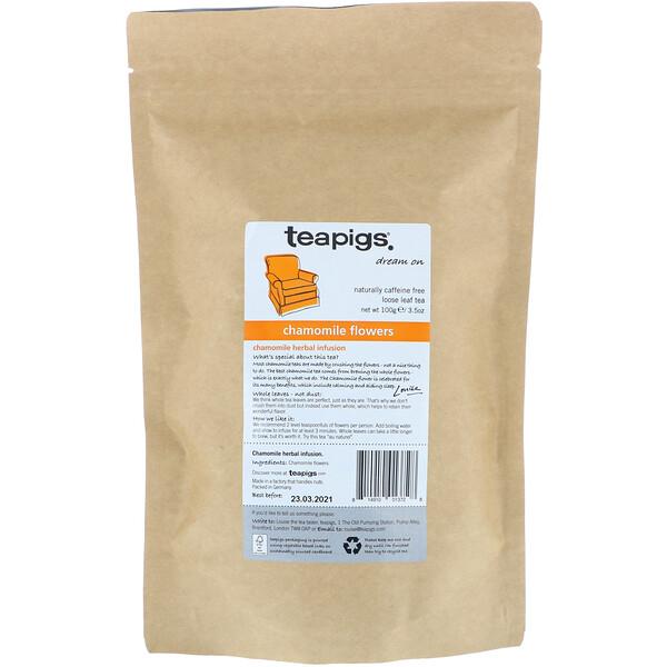 TeaPigs, Dream On, Chamomile Flowers, Loose Leaf Tea, Caffeine Free, 3.5 oz (100 g) (Discontinued Item)
