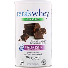 Tera's Whey, 草飼,純乳清蛋白,公平貿易黑巧克力可可,12 盎司(340 克)