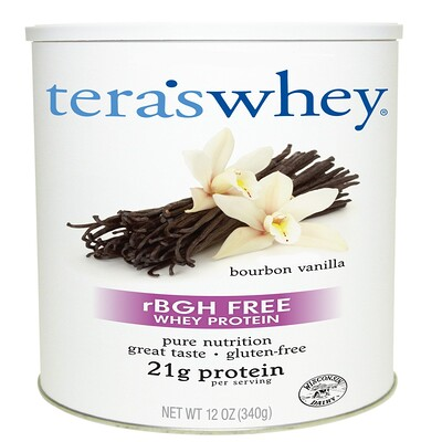 Tera's Whey Grass Fed, Simply Pure Whey Protein, Bourbon Vanilla, 12 oz (340 g)