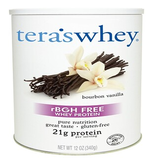 Tera's Whey, Grass Fed, Simply Pure Whey Protein, Bourbon Vanilla, 12 oz (340 g)