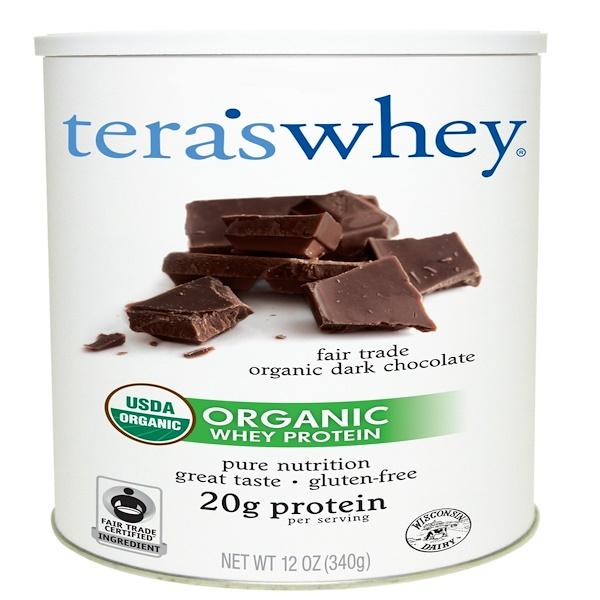 Tera's Whey, Grass Fed, Organic Whey Protein, Fair Trade Organic Dark Chocolate, 12 oz (340 g) (Discontinued Item)