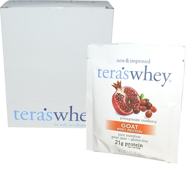 Tera's Whey, Goat Whey Protein, Pomegranate Cranberry, 12 Packets, 1 oz (28.4 g) Each (Discontinued Item)