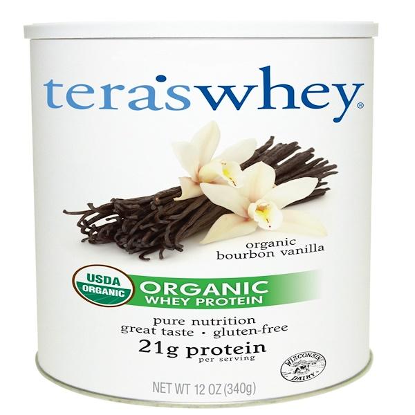 Tera's Whey, Grass Fed Organic Whey Protein, Organic Bourbon Vanilla, 12 oz (340 g) (Discontinued Item)
