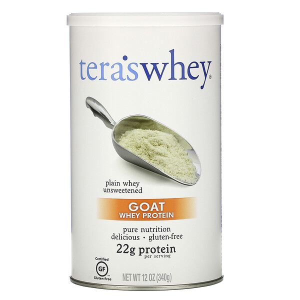 Protéines de lactosérum de chèvre, lactosérum simple non sucré, 12 oz (340 g)