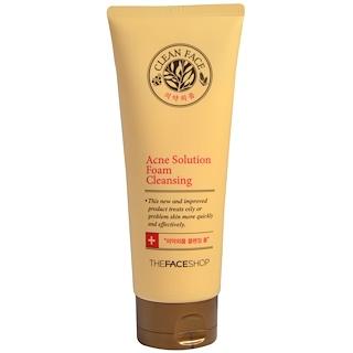 The Face Shop, Acne Solution Foam Cleansing, 5.07 fl oz (150 ml)