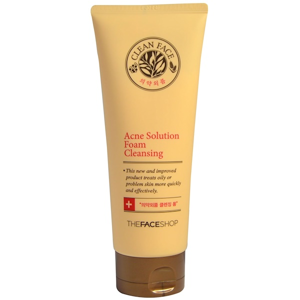 The Face Shop, Acne Solution Foam Cleansing, 5.07 fl oz (150 ml) (Discontinued Item)