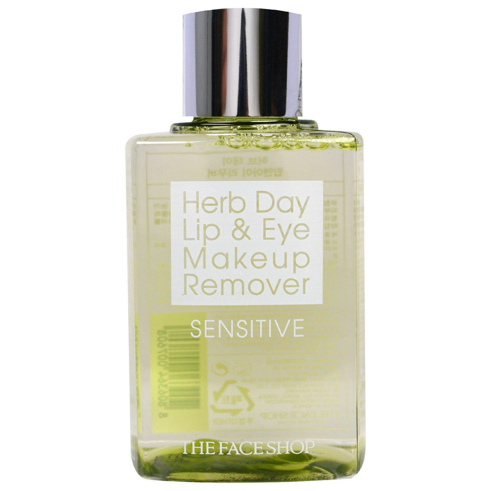 The Face Shop, Средство для снятия косметики с области глаз и губ Herb Day для чувствительной кожи, 4,39 жидких унций (130 мл)