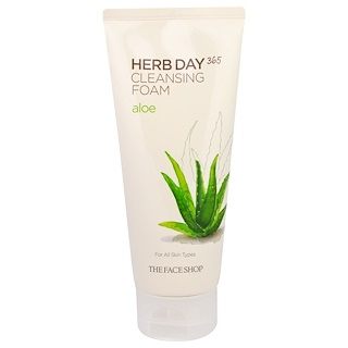 The Face Shop, Herb Day 365, Cleansing Foam, Aloe , 5.74 fl oz (170 ml)