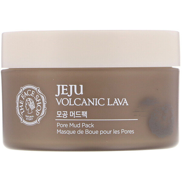 The Face Shop, Jeju Volcanic Lava, Pore Mud Pack, 3.3 fl oz (100 ml) (Discontinued Item)
