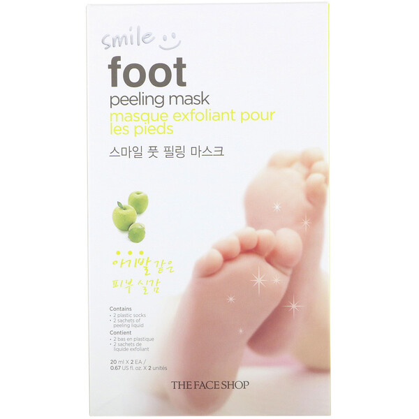 The Face Shop, Smile Foot Peeling Mask, 1 Pair, 0.67 fl oz (20 ml) Each