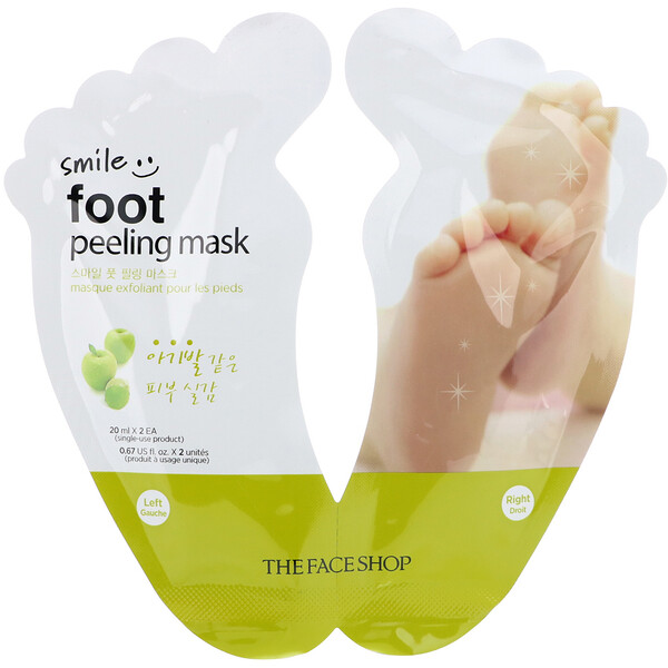 Smile Foot Peeling Mask, 1 Pair, 0.67 fl oz (20 ml) Each