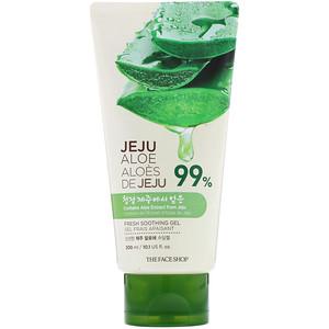 Зе Фасе Шоп, Jeju Aloe 99%, Fresh Soothing Gel, 10.1 fl oz (300 ml) отзывы покупателей