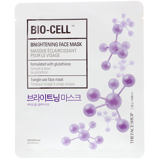 The Face Shop, Bio-Cell, Brightening Face Mask, 1 Single-Use Face Mask