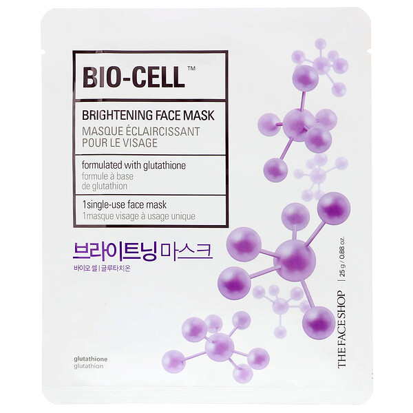 The Face Shop, Bio-Cell, Brightening Face Mask, 1 Sheet, 0.88 oz (25 g) (Discontinued Item)