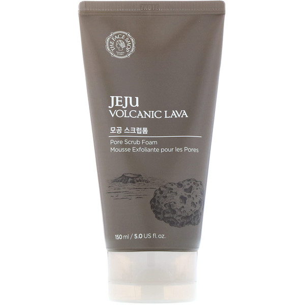 The Face Shop, Jeju Volcanic Lava, Pore Scrub Foam, 5 fl oz (150 ml) (Discontinued Item)