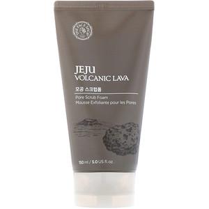 Зе Фасе Шоп, Jeju Volcanic Lava, Pore Scrub Foam, 5 fl oz (150 ml) отзывы покупателей