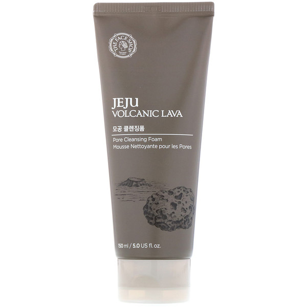 The Face Shop, Jeju Volcanic Lava, Pore Cleansing Foam, 5 fl oz (150 ml)