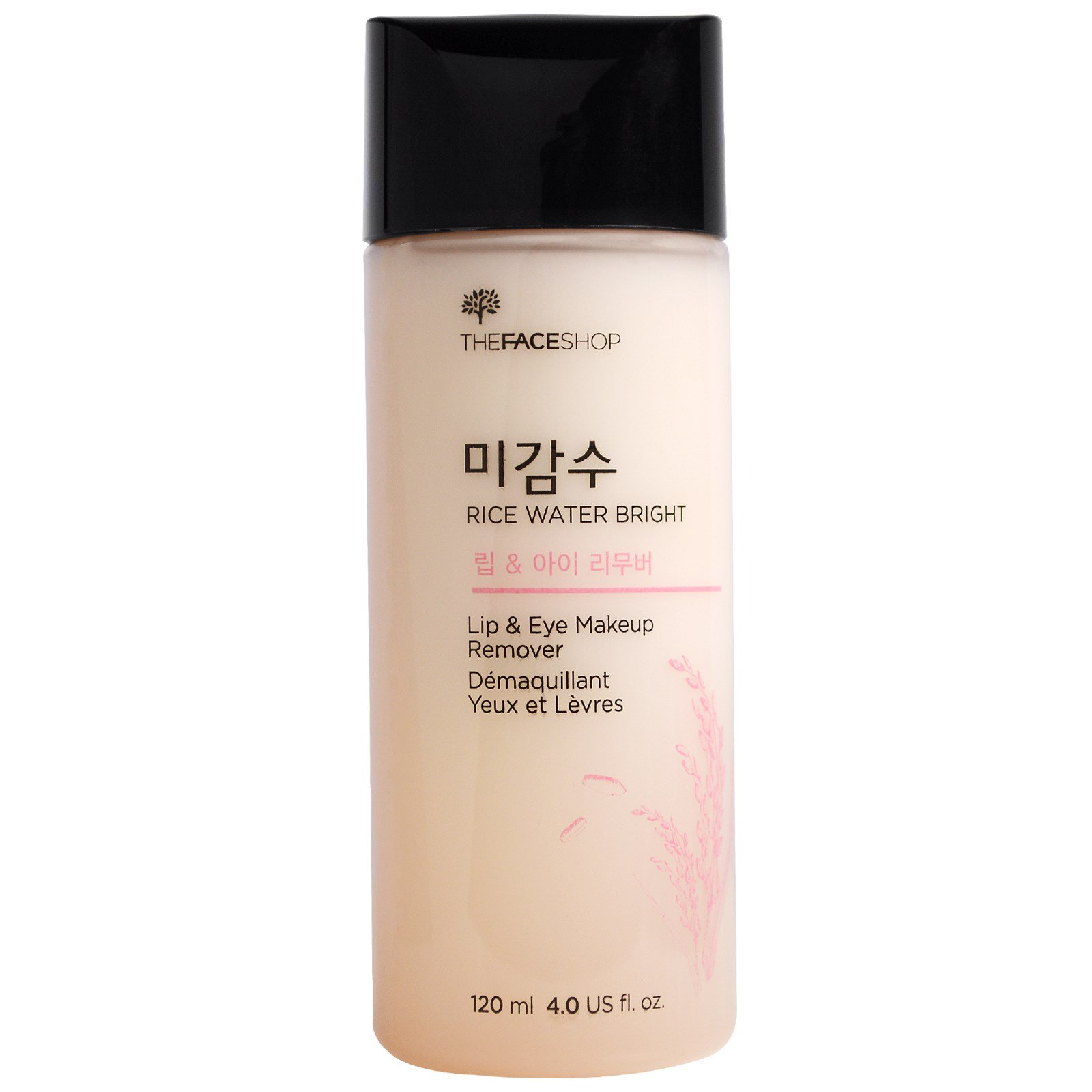 The Face Shop Rice Water Bright Lip Eye Makeup Remover 40 Oz