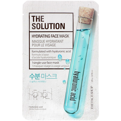 The Face Shop The Solution, Hydrating Face Mask, 1 Sheet, 0.70 oz (20 g)