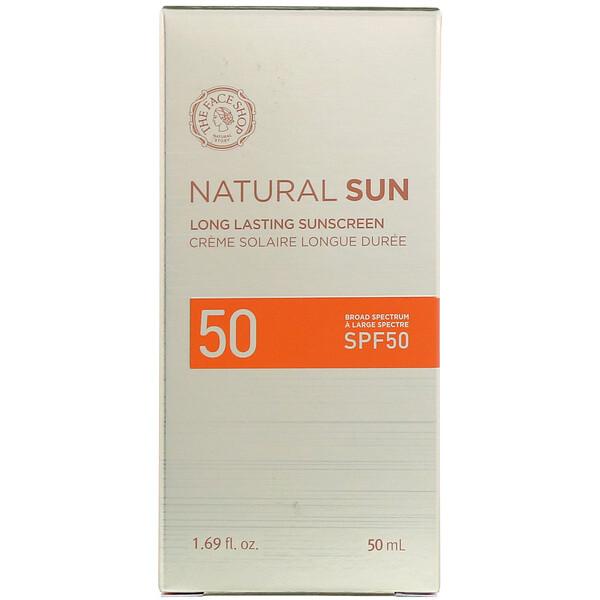The Face Shop, Natural Sun, Long Lasting Sunscreen, SPF 50, 1.69 fl oz (50 ml)