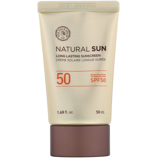 The Face Shop, Natural Sun, Fotoprotector de larga duración, FPS 50, 50 ml (1.69 fl oz)